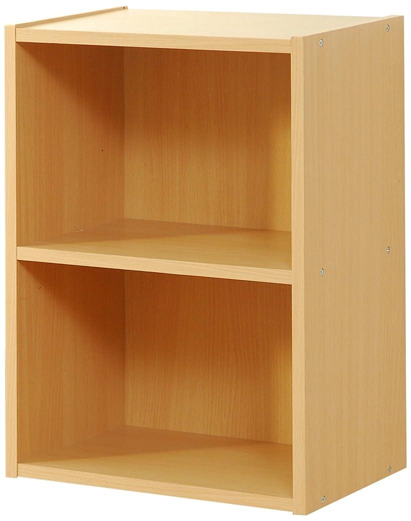 結晶扱う持続するFrama Furniture(フラマファニチャー) 低ホルムアルデヒドカラーボックス 2段 ナチュラル GCB4460NA
