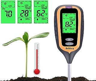 Urlitoy Soil Moisture Meter - 4 in 1 Soil Test Kit Gardening Tools PH, Light & Moisture, Plant Tester Home, Farm, Lawn, In...