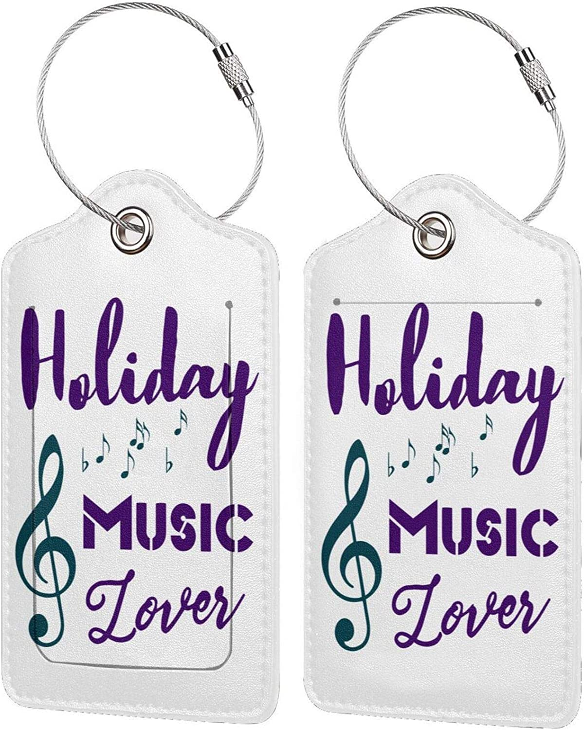 Holiday Music Lover Genuine PU Leather Travel Luggage Max 63% OFF wit Tags Rectangle