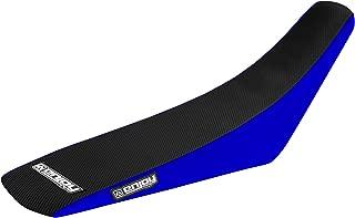 Enjoy MFG 2000 - 2007 Yamaha TTR 125 Blue Sides / Black Top Full Gripper Seat Cover