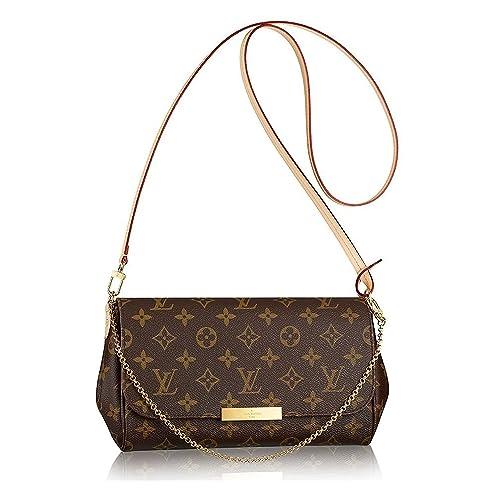 63a82eb2a97 Louis Vuitton Favorite MM Monogram Canvas Cluth Bag Handbag Article  M40718  Made in France