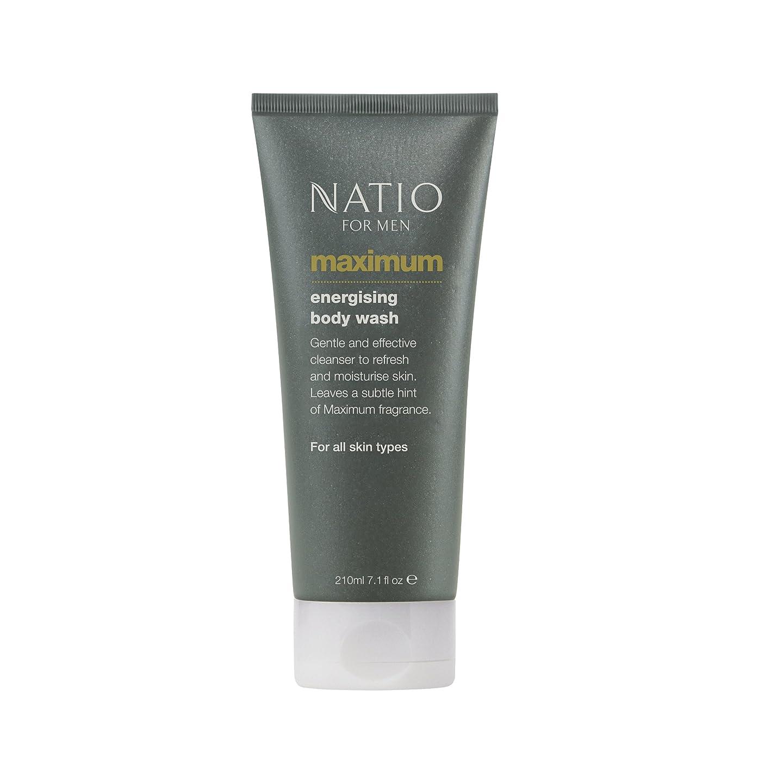 居間悩む露出度の高いNatio Men's Maximum Energising Body Wash 210ml