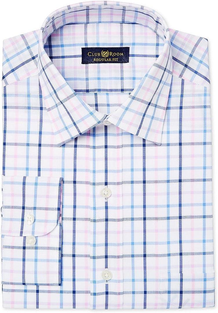Club Room Men's Classic-Fit Check Dress Shirt