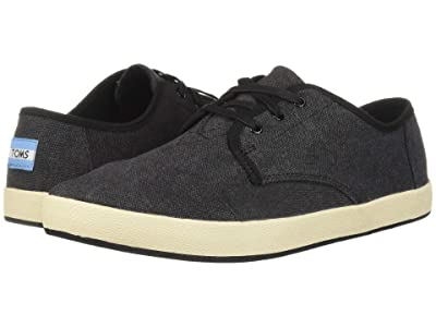 TOMS Paseo (Black Washed Canvas) Men