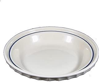 Longaberger Pottery Woven Traditions Grandma Bonnie's Pie Plate Classic Blue