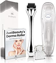 Derma Roller Premium 540 Titanium Micro Needles Set 0.5mm- Skin Care Tool Kit For Face, Body Hair- With Storage Case, Alcohol Container + FREE Manual Book- Treats Hyperpgimentation, Acne Scars, Exfoliation