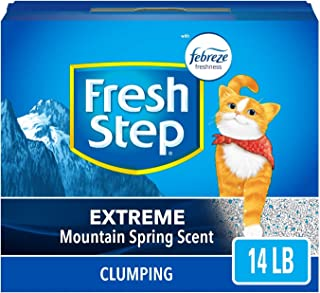 Fresh Step Extreme Scented Litter with The Power of Febreze, Clumping Cat Litter –..
