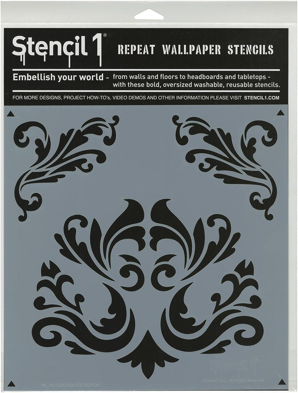 Stencil1 Kunststoff 27,9 27,9 27,9 cm x 11-inch-Flourishes B00U6EQLFS | Erste Kunden Eine Vollständige Palette Von Spezifikationen  8bc290