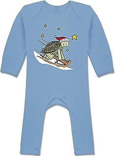 Shirtracer Weihnachten Baby - Weihnachten süße Schildkröte - Baby-Body Langarm für Jungen und Mädchen