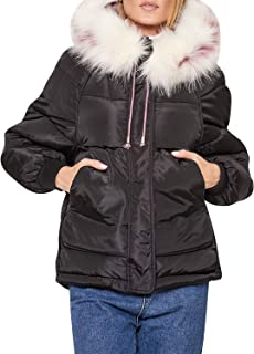 Zandiceno Women's Winter Warm Down Coats Puffer Parkas Hooded Jackets