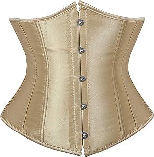 مشد كورسيه بتصميم فينتاج وستيمبنك اسفل الصدر بمقاس كبير، لنحت الخصر والصدر وشد البطن للنساء