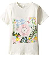 Stella McCartney Kids - Arlow Floral 'Stella Records' Tee (Toddler/Little Kids/Big Kids)