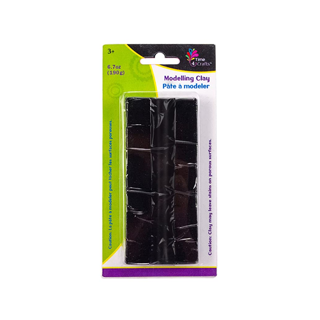 CTG Modelling Clay Pack of 12 190 grams Black 12 Piece