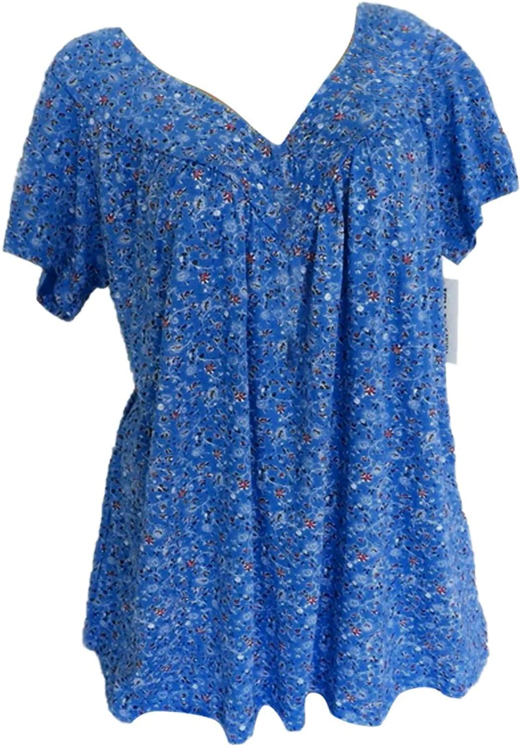 Raleigh Mall Womens Plus Size Swing Tops V-Neck Print Sleeves Bl Short Max 59% OFF Floral