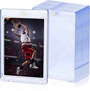 35pt Card Holders Trading Card Sleeves Plastic Hard Card Sleeves Magnetic Card Holders for MTG Cards YUGIOH Cards Sports C...
