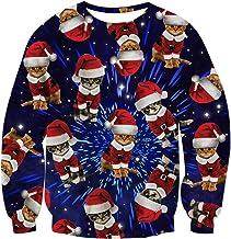 RAISEVERN Unisex Ugly Christmas Sweater for Men Women Funny Xmas Pullover Sweatshirt