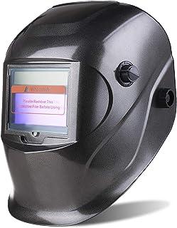 SHYOSUCCE Casco de Soldadura con Protección UV: 16 niveles, Careta para Soldar Automatica (Oscurecimiento Variable: DIN 9-13) para Pulir, MMA, MIG/MAG,WIG/TIG, 5 Lentes de Recambio