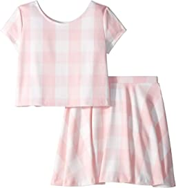 Gingham Top & Skirt Set (Little Kids/Big Kids)