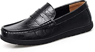 Go Tour Mens Loafers - Italian Dress Casual Loafers for Men - Slip-on Driving Shoes