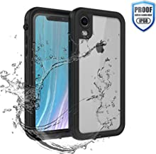 YOGRE iPhone XR Waterproof Case, IP68 Underwater Phone Case with Built-in Screen Protector, Clear Cover Full-Body Protected Shockproof Dustproof Snowproof XR Case, 6.1 inch, Black