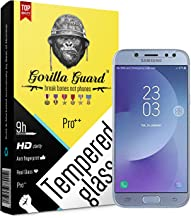 Gorilla guard's HD+ Clear tempered glass screen protector for Samsung J7+ Galaxy J7+ Plus 5.5inch (Pro series) 8H hardness...