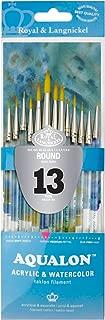 Aqualon Royal and Langnickel Short Handle Paint Brush Set, Round, 13-Piece