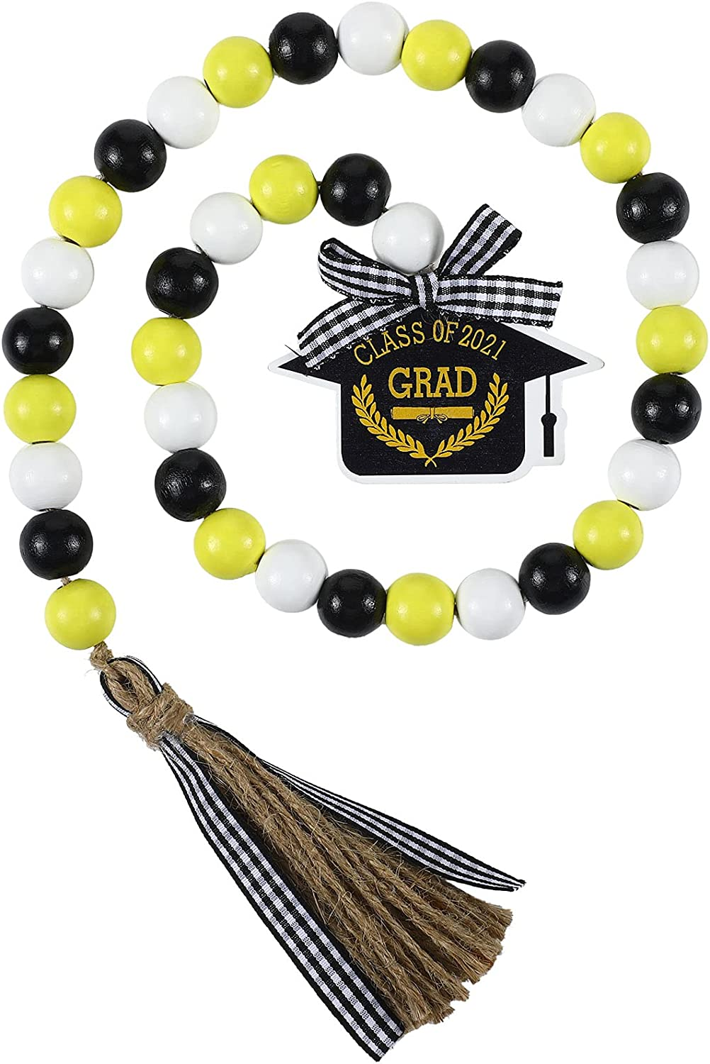 Graduation 55% OFF Wooden Bead with Challenge the lowest price of Japan ☆ Class Cap 2021 Woo Tag of
