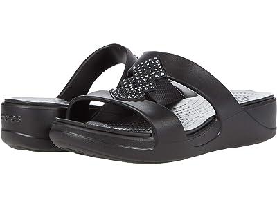 Crocs Monterey Shimmer Slip-On Wedge