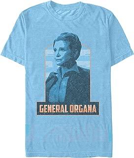Star Wars The Force Awakens Men's Vintage General Leia Organa T-Shirt