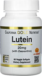 California Gold Nutrition Lutein with Zeaxanthin, 20 mg, 60 Veggie Softgels