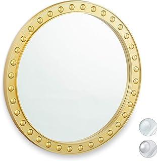 Diametro 30 cm Specchio Rotondo da Appendere in Oro Madam Stoltz