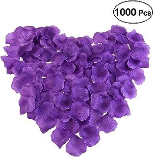 purple rose petals for weddings