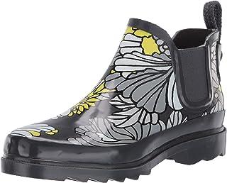 حذاء المطر برقبة طويلة للكاحل للنساء من The SAK مطبوع عليه Sakroots Rhyme Ankle ، أزهار صخرية، مقاس 8 متوسط أمريكي