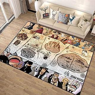 Monkey D. Luffy,Poster Manga One Piece Bath Mat, Flannel Microfiber Anti-Slip Reduce Bunching Stain Resistant Carpet Doorm...