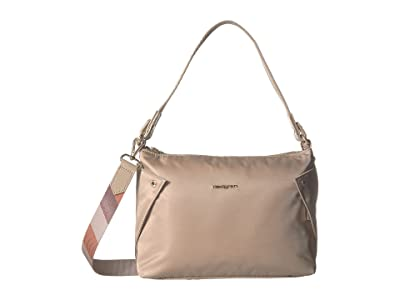Hedgren Reflect Mini Hobo (Timber Wolf Beige) Hobo Handbags