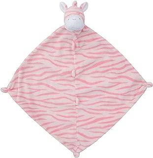 Angel Dear Blankie, Bright Pink Zebra, 14 x 14 x 1.1 Inch