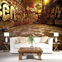 Retro Graffiti 3D Color Letters Photo Mural Wallpaper Cafe Restaurant Ktv Creative Spatial Extension Personality Fresco@350250Cm