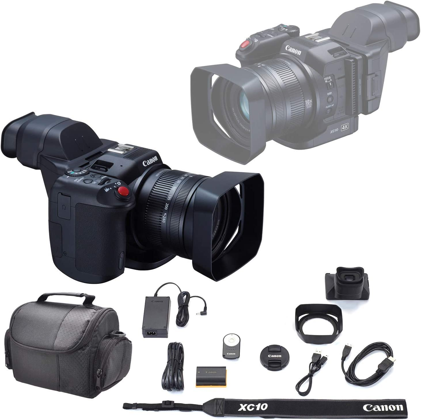 Canon XC10 4K Professional Camcorder Soft Luxury goods Carrying Max 57% OFF Case +