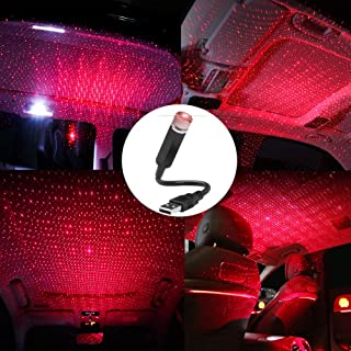 USB Night Light Star Projector, LEDCARE Auto Roof Star Lights, Portable Romantic Light for Bedroom, Car, Party, Ceiling and More- Plug and Play