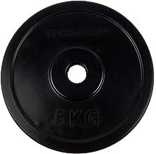 Tunturi Unisex's Rubber 5.0kg, Single Plate, Black, 5 kg