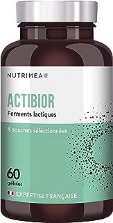 Probiotique 5,7 x 60 Milliards d'UFC par pilulier - ACTIBIOR - composition multi-souches dont lactobacillus - Gélules végétales gastro-résistantes - Fabriqué en France