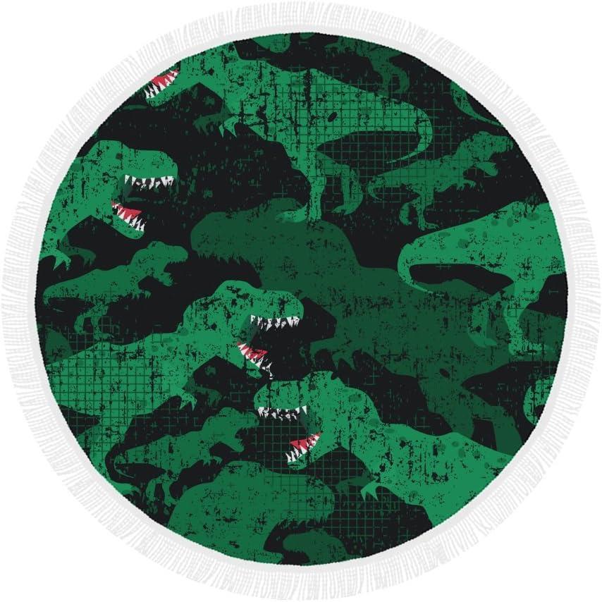 Dinosaur Pattern Print Round Beach Mat Tapestry latest Blanket Towel Lowest price challenge fo