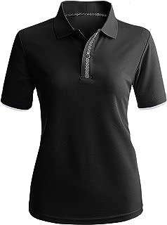CLOVERY Women's Sport Wear 2-Button Polo Short Sleeve Shirt