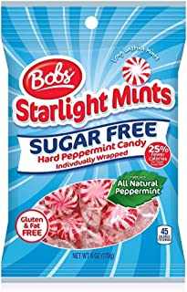 Bobs Sugar Free Starlight Mints, 6 Ounce Bag, Pack of 8