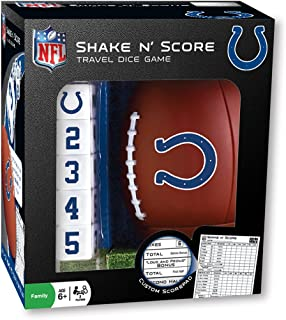 MasterPieces NFL Indianapolis Colts Shake N' Score Travel Dice Game, For 2 Players, Ages 6+