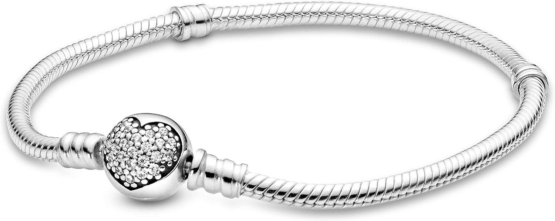 Pandora 即日出荷 Jewelry Sparkling Heart Cubic Bracelet Zirconia in Sterl 日本限定
