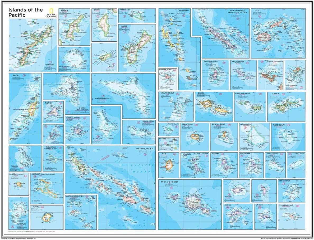 National Geographic: sold out Islands of the Pacific Wall x 28 i Time sale 22 Map -