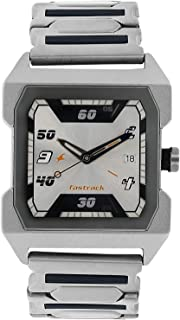 1474SM01 - Fastrack ANALG Men's, 50 meters Water Resistant, Stainless Steel, Silver and Blue