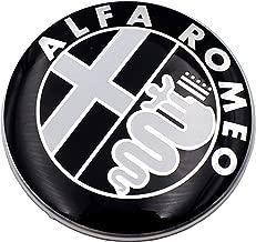 2 pi/èces LOGO CLE TELECOMMANDE ALFA ROMEO 15mm FREGIO STEMMA 147 156 159 METAL NOIR