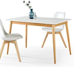 ZINUS Jen Wood Dining Table | Solid Wood Kitchen Table 119 cm - White